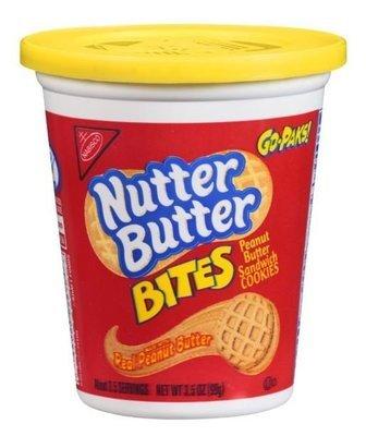 Sandwich Cookies, Nabisco® Nutter Butter® Bites Go-Paks™ Cookies (3.5 oz Cup)