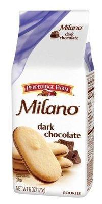 Cookies, Pepperidge Farm® Milano™ Dark Chocolate Cookies (6 oz Bag)