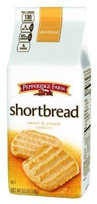 Cookies, Pepperidge Farm® Sweet & Simple™ Shortbread Cookies (5.5 oz Bag)
