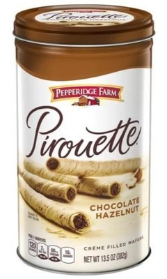 Wafer Cookies, Pepperidge Farm® Pirouette™ Chocolate Hazelnut Creme Filled Wafers (13.5 oz Can)