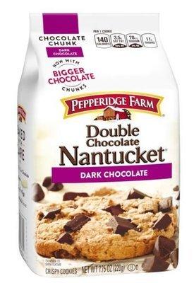 Cookies, Pepperidge Farm® Nantucket™ Double Dark Chocolate Cookies (7.75 oz Bag)