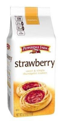Cookies, Pepperidge Farm® Sweet & Simple™ Thumbprint Cookies, Strawberry (6.75 oz Bag)
