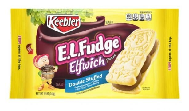 Cookies, Kellogg's® Keebler® E.L. Fudge Elfwich® Double Stuffed Cookies (13.6 oz Bag)