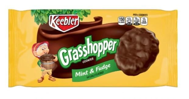 Cookies, Kellogg's® Keebler® Grasshopper® Mint and Fudge Cookies (10 oz Bag