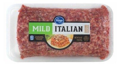Fresh Italian Sausage, Kroger® Mild Italian Ground Sausage (16 oz Tray)