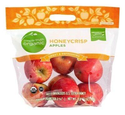 Organic Fresh Apples, Simple Truth Organic™ Honeycrisp Apples (2 lb Bag)