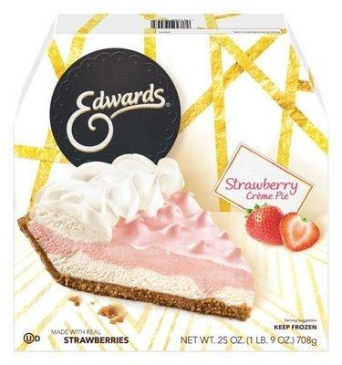 Pie, Edwards® Strawberry Crème Pie (25 oz Box)
