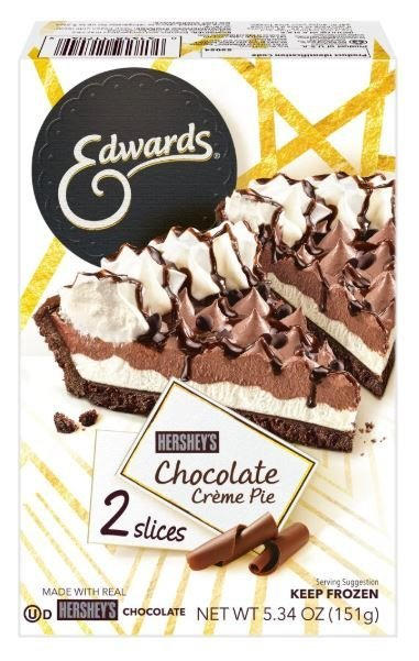 2 Pie Slices, Edwards® Hershey's Chocolate Creme Pie (Two 2.67 oz Slices)