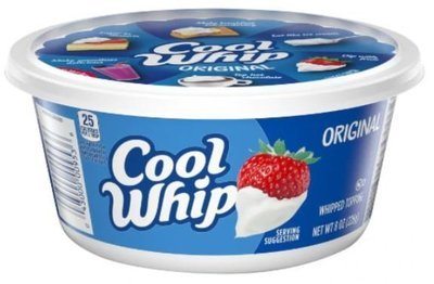 Whipped Cream, Cool Whip® Original Whipped Topping (8 oz Tub)