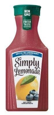 Juice Drink, Simply Lemonade® Lemonade with Blueberry (52 oz Bottle)