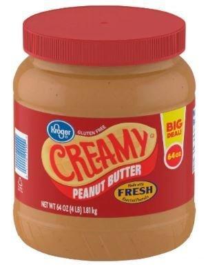 Peanut Butter, Kroger® Creamy Peanut Butter (64 oz Jar)