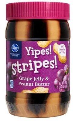 Peanut Butter Blend, Kroger® Yipes! Stripes! Grape Jelly & Peanut Butter (18 oz Jar)