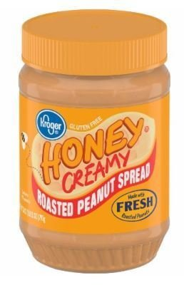 Peanut Butter, Kroger® Honey Creamy Roasted Peanut Spread (28 oz Jar)