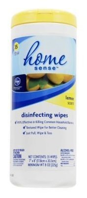 Wipes, Kroger® Home Sense® Lemon Scent Disinfecting Wipes (35 Count)