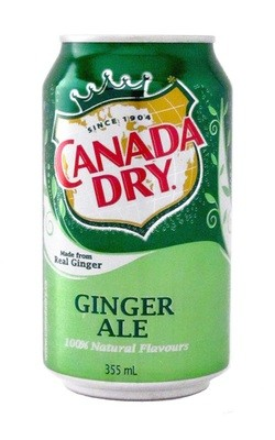 Soda, Canada Dry® Ginger Ale ( 1 Single, 12 oz Can)