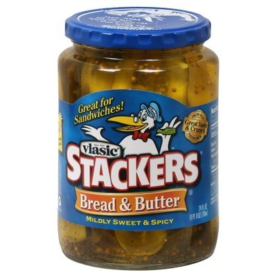 Preserved Pickles, Vlasic® Stackers Bread and Butter Pickles