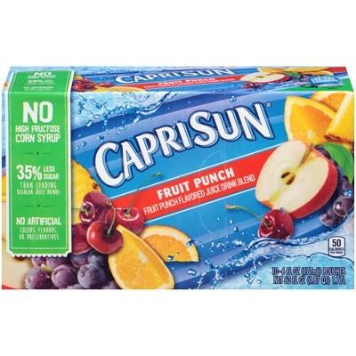 Juice Drink, Capri Sun® Fruit Punch, Single 6 oz Packet