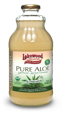 Juice Drink, Lakewood Organic® Organic Pure Aloe Juice (32 oz Bottle)