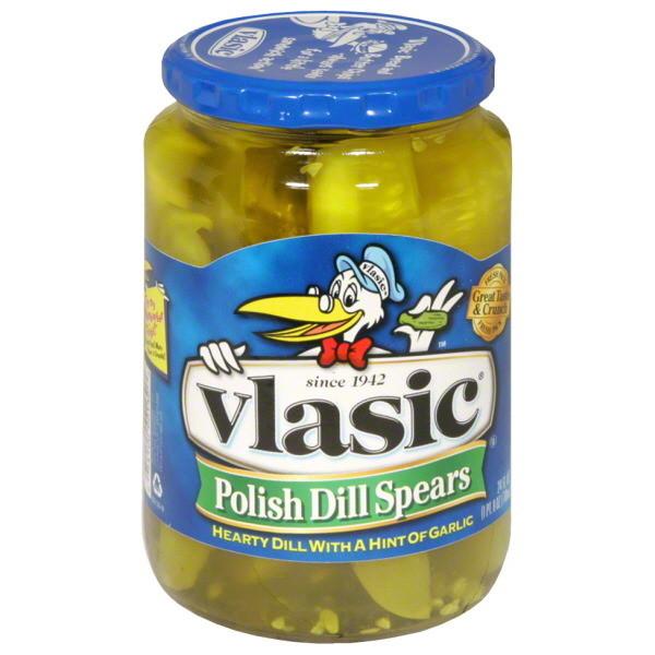 Preserved Pickles, Vlasic® Polish Dill Spear Pickles