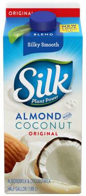 Soy Milk,  Silk® Soy Milk, Original, Blend, Almond Coconut, Lactose & Dairy-Free (½ Gallon Carton)