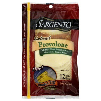 Cheese, Sargento® Provolone Deli Style, Sliced Cheese, Natural