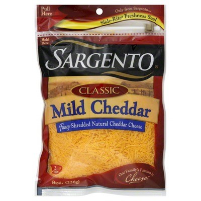 Shredded Cheese, Sargento® Mild Cheddar, Shredded