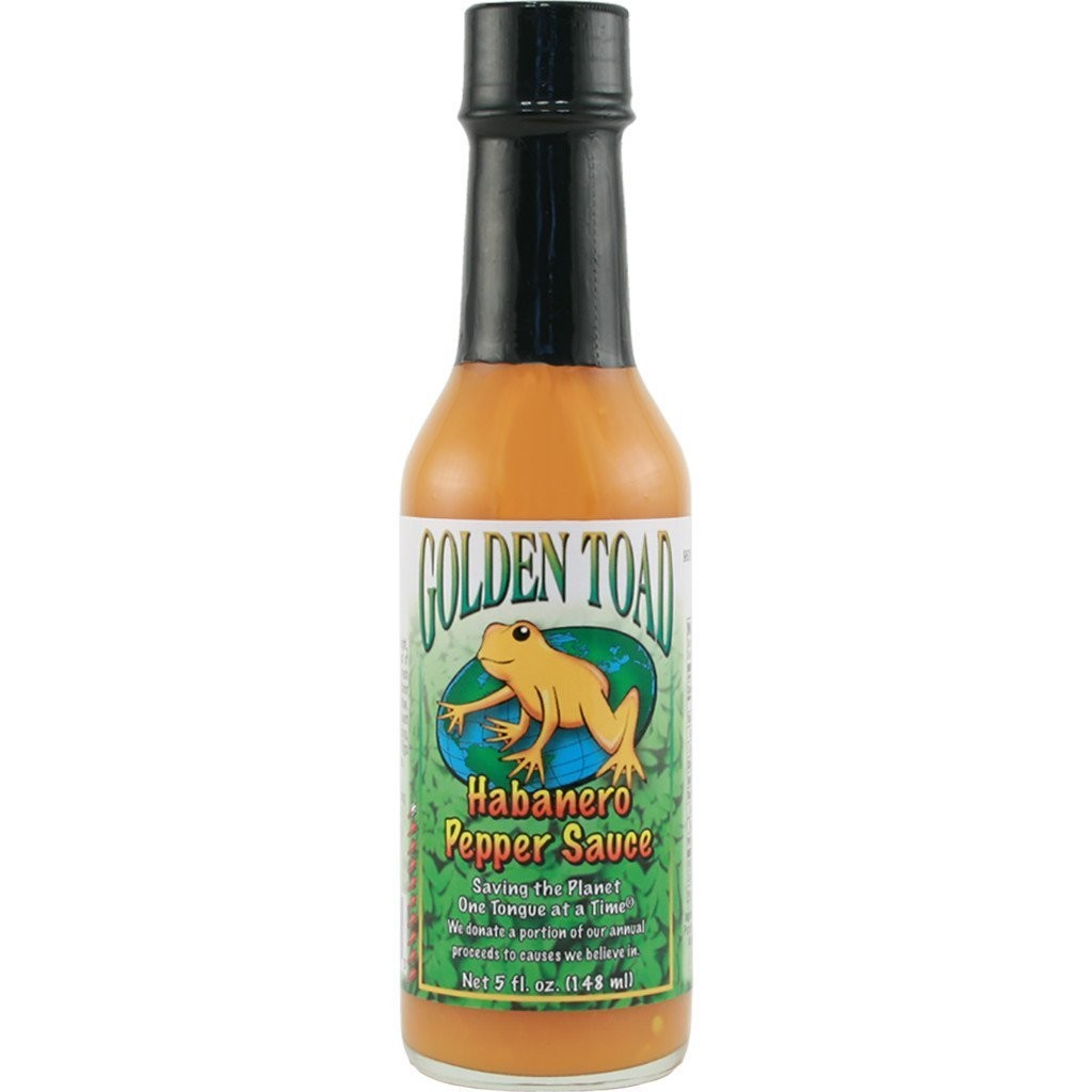Hot Sauce, Golden Toad® Orange Habanero Hot Sauce, 5 oz Bottle