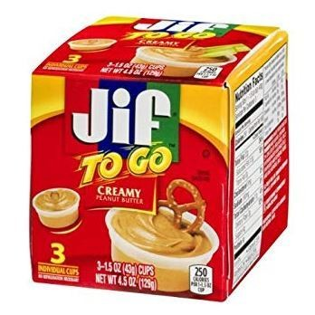 Peanut Butter, Jif to Go® Creamy Peanut Butter (1.5 oz Cups, 3 Count)