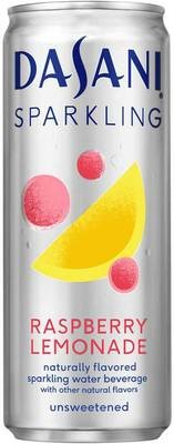 Sparkling Water, Dasani® Sparkling Raspberry Lemonade Flavored Water (Single 12 oz Can)