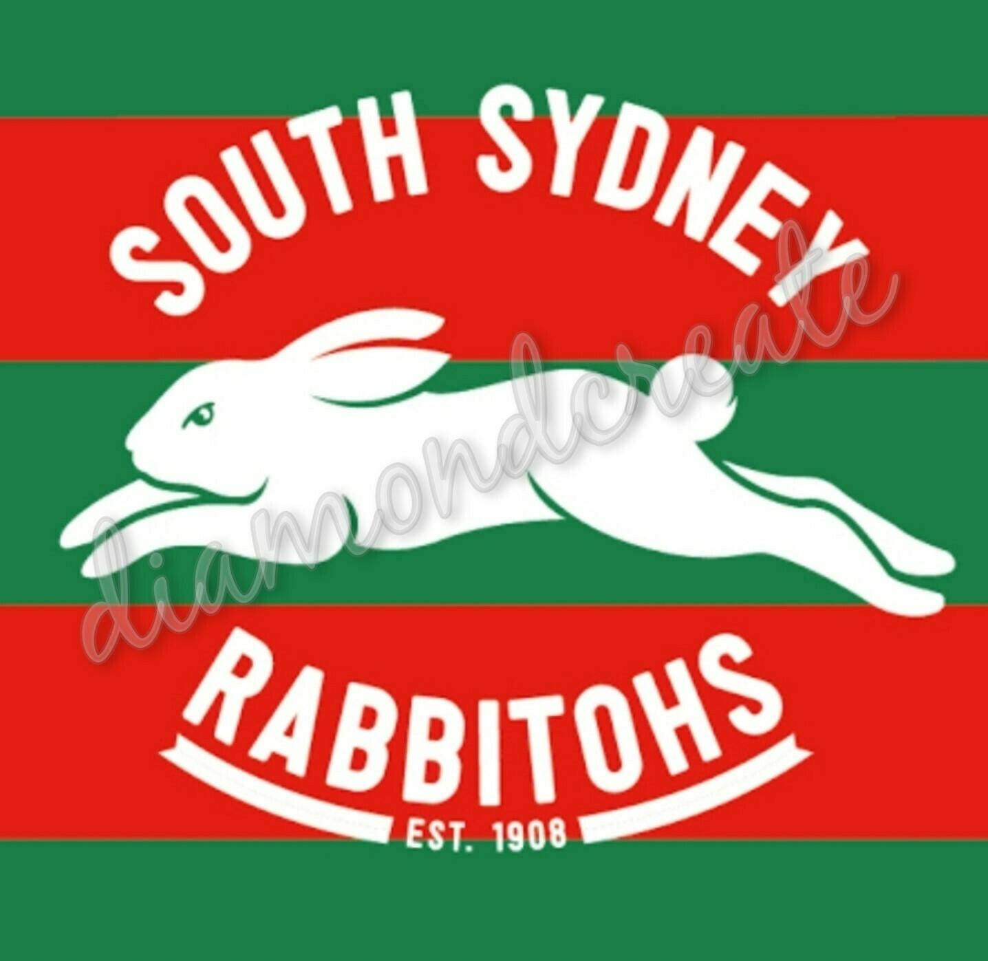 5d Diy Diamond Painting Kit In Stock South Sydney Rabbitohs 60x60cm Full Drill Square