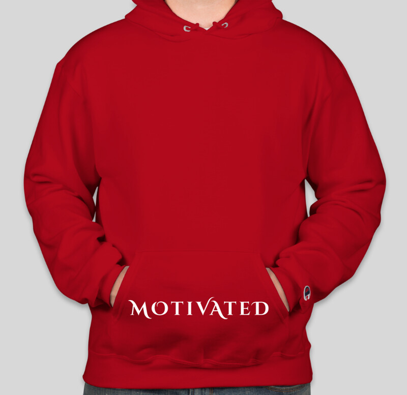 Motivated Hoodie 3 Logo on Pocket