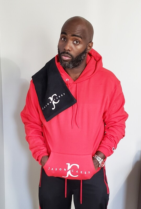 Jason Carey Hoodie 2 Logo on Pocket
