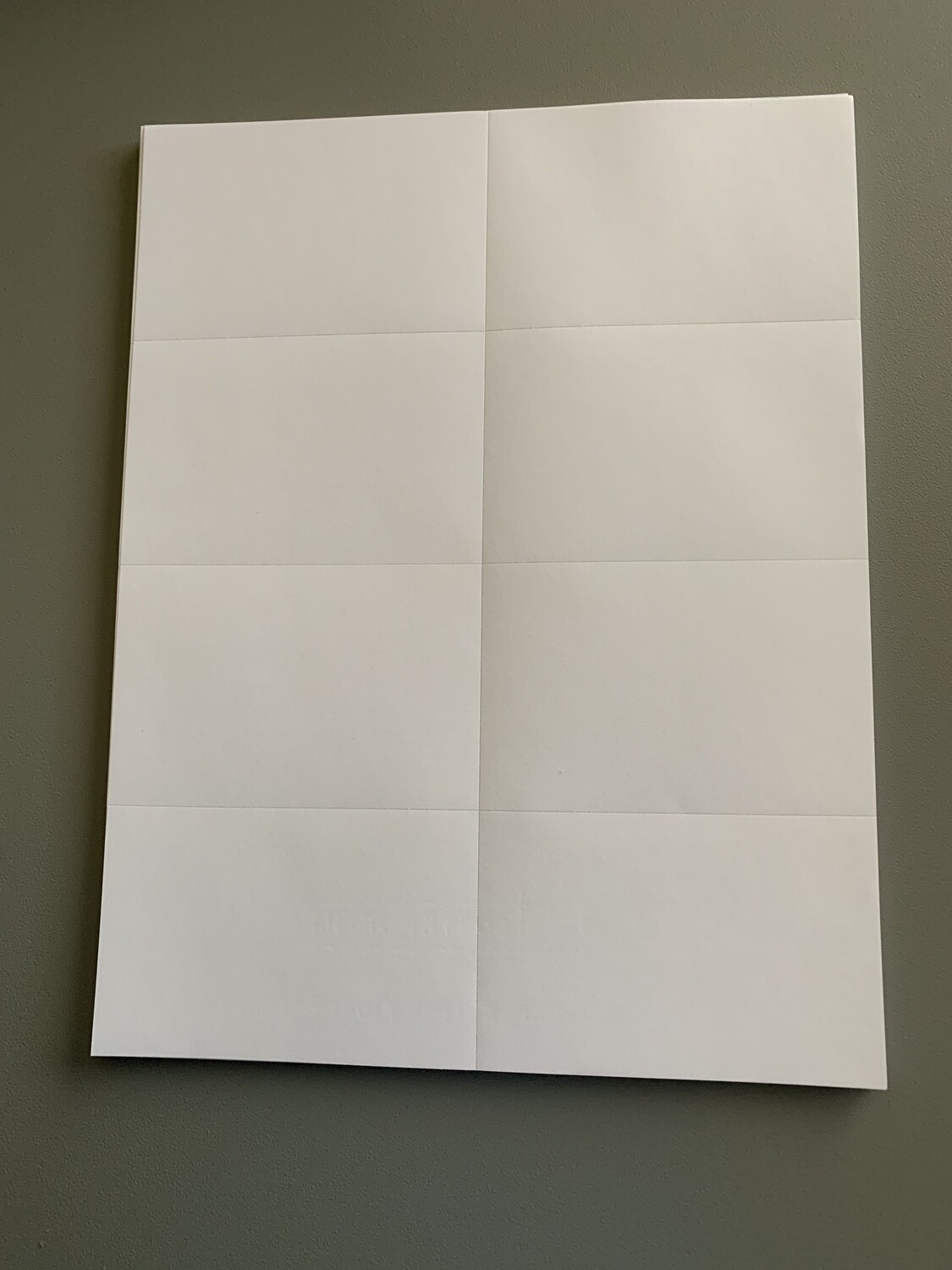"""Cotton Paper 8.5"""" x 11"""" (Plain or Perforated for Labels)"""