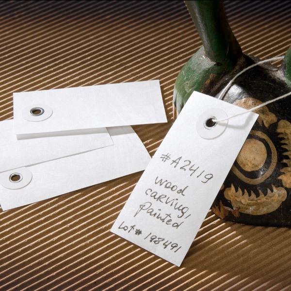 "White Tyvek Tags (2.25"" x 1.375"")"