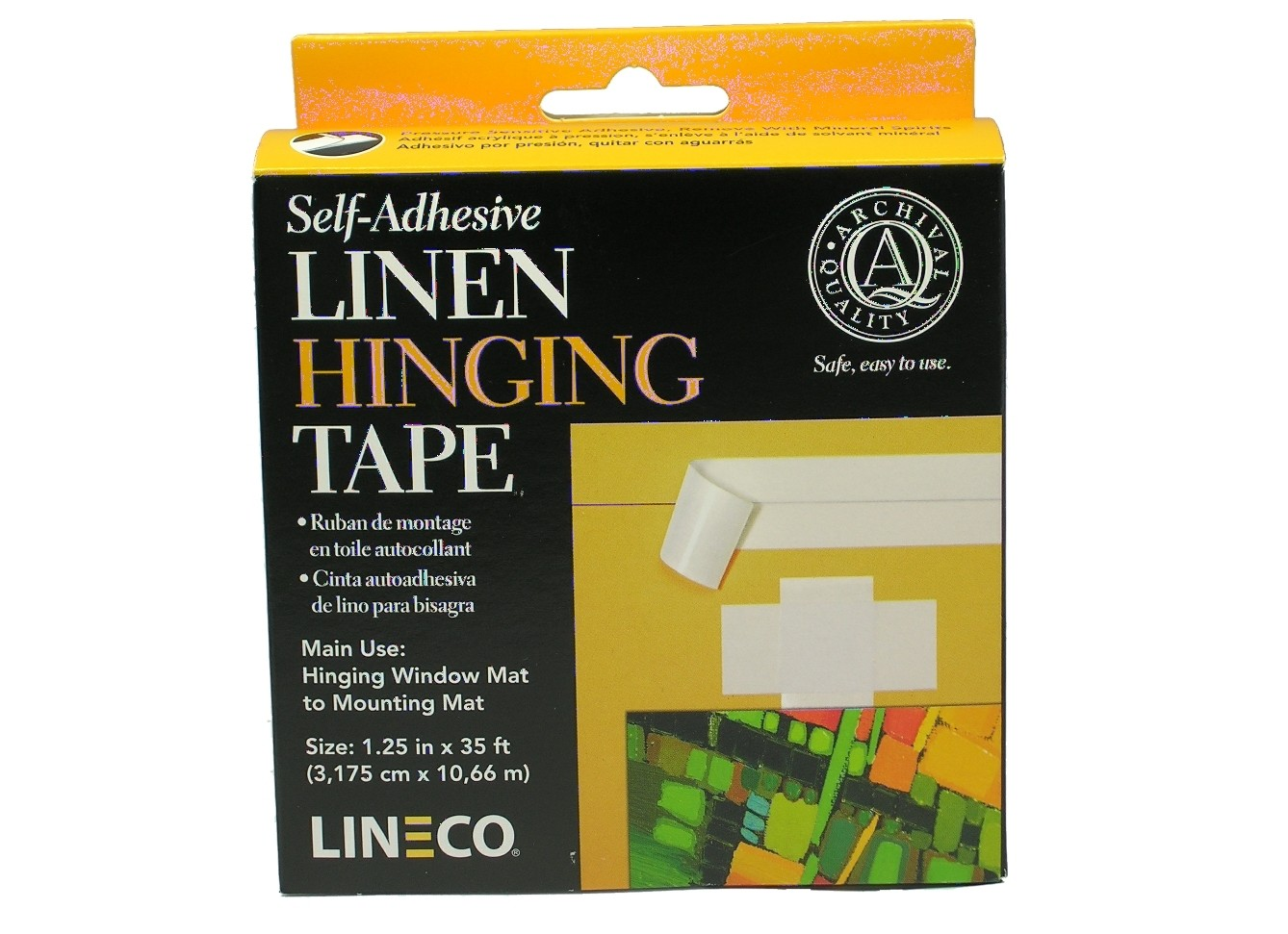 Lineco Self-Adhesive White Linen Tape