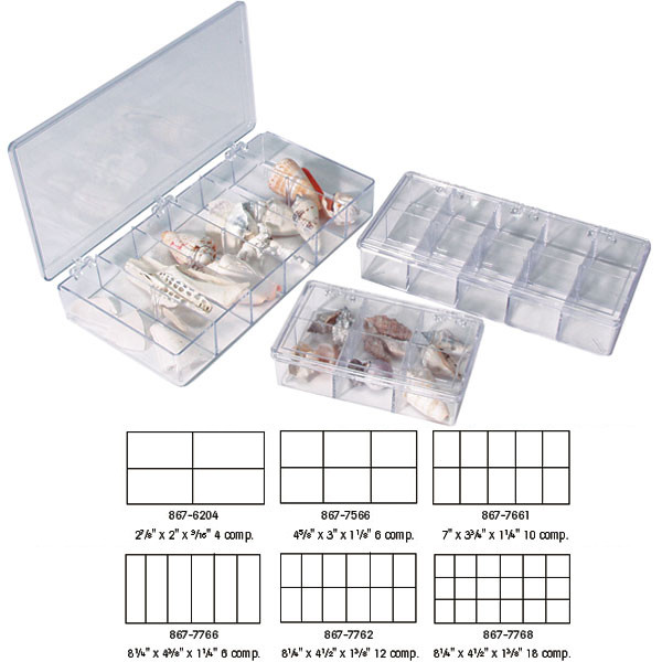 Polystyrene Storage Boxes with Dividers