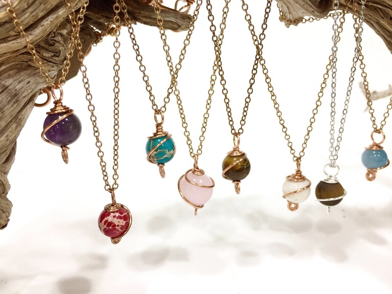 Custom your gemstone pretty necklace