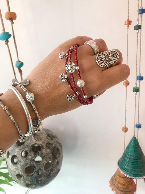 Sterling silver macrame bracelets
