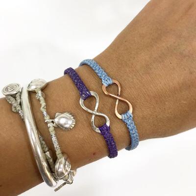 Infinity Copper Or Sterling Silver Macrame Bracelets