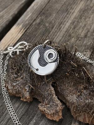 """Cosmic"" 925 Sterling Silver Handmade Pendant"