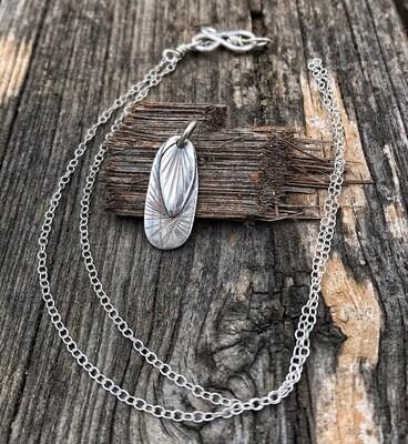 """""""Fractal"""" 925 Sterling Silver Handmade Pendant"""