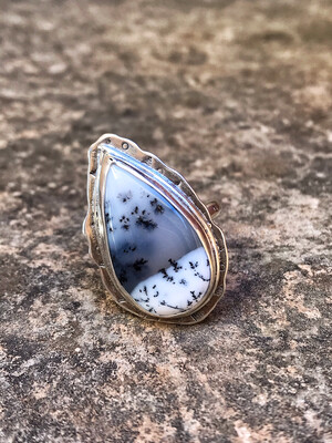 Dendritic Opal Silver ring