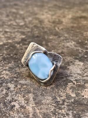 Larimar Sterling Silver Bespoke Ring