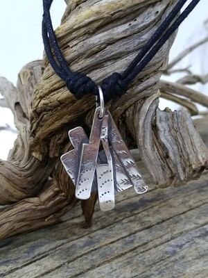 """""""Fan"""" 925 Sterling Silver Handmade Pendant"""