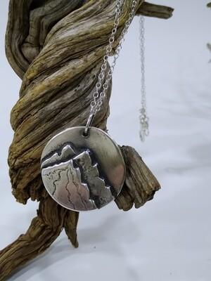 """Kamtchatka"" handmade Sterling Silver 925 pendant"