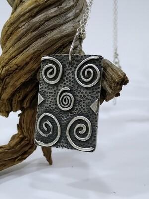 """Hagar Qim"" handmade sterling silver 925 pendant"