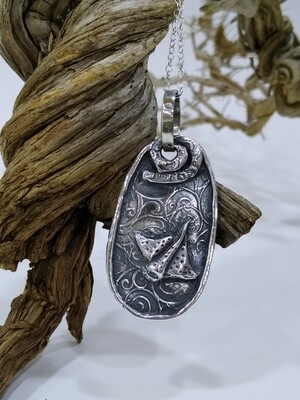 """""""The reef"""" Handmade Pure 999 silver pendant"""