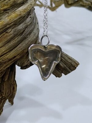 """""""Shark tooth"""" 925 silver pendant"""