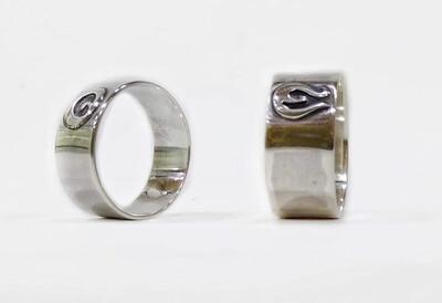 His & Hers Maori Koru design 925 Sterling Sterling Wedding Rings