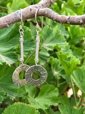 Sterling Silver Long Dangle Earrings